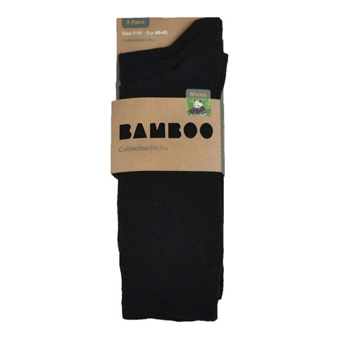 Men's 100% Bamboo Socks Plain Black
