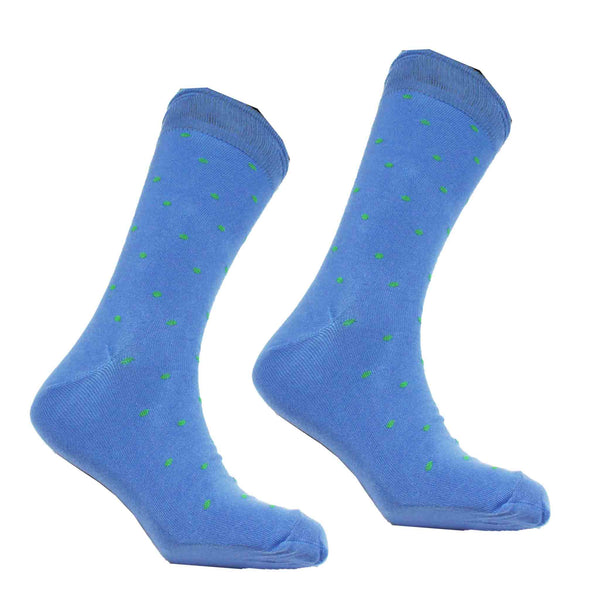 MEN'S SMALL DOT SOCKS - BLUE/GREEN