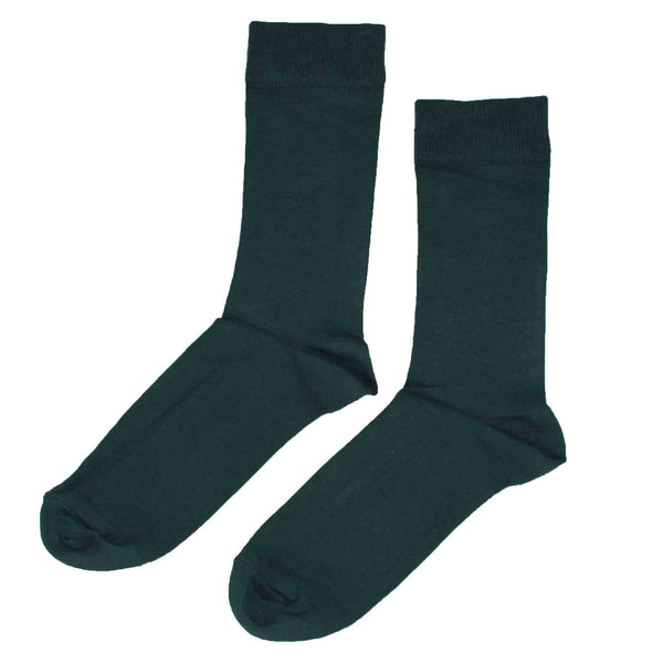 MEN'S 100% BAMBOO PLAIN SOCKS - PEA MIX - 5 PAIR PACK