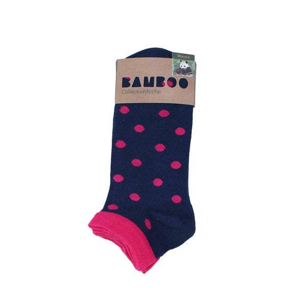 Men's 100% Bamboo Trainer Socks - Pink Multi Style