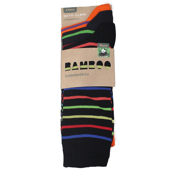 Men's 100% Bamboo Multi Striped Socks