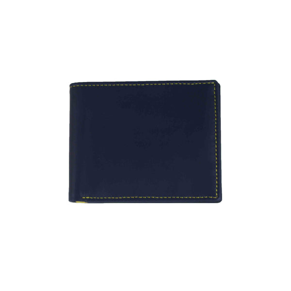 Classic Wallet Navy and Lemon