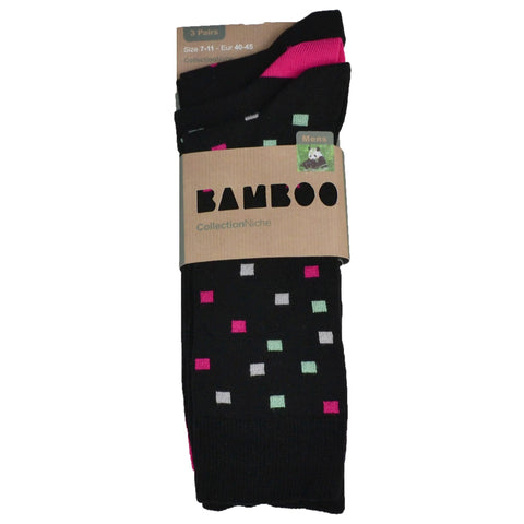 Men's 100% Bamboo Socks Pink and Black