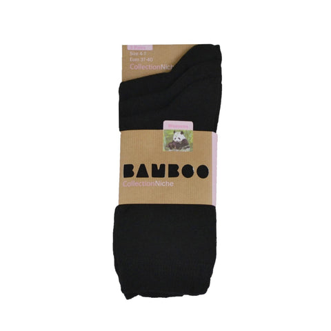Women's 100% Bamboo Sock Plain Black