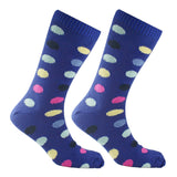 Cotton Large Polka Dot Sock Navy Blue