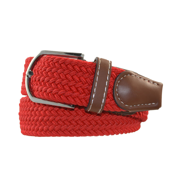 Elasticated Uni-Sex Belt Red