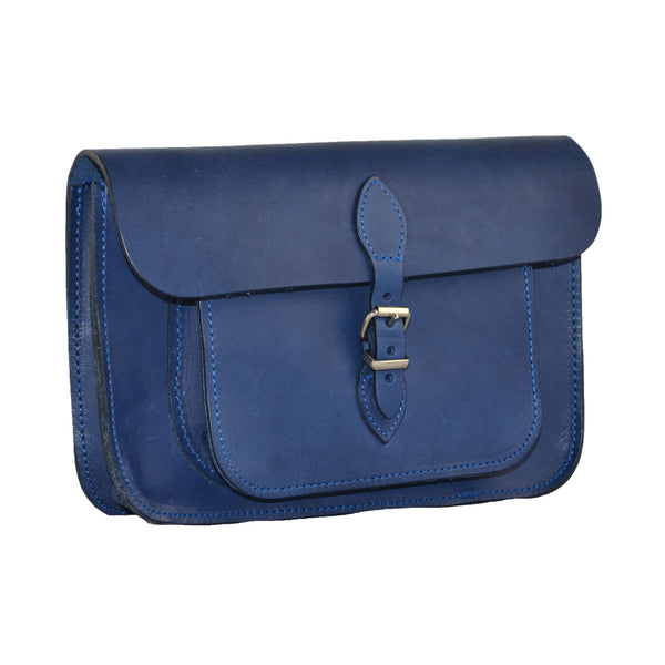 Dark Blue Satchel Bag 100% Leather