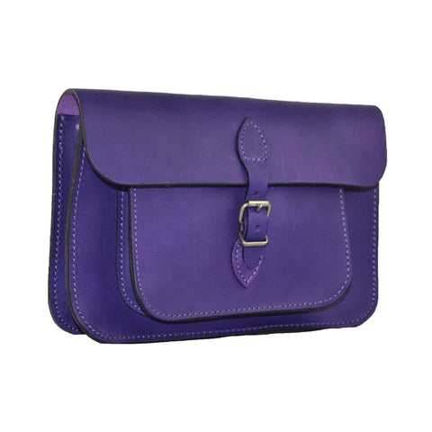 Purple Satchel Bag 100% Leather