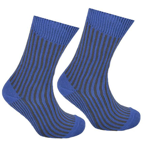 Cotton Striped Socks Blue and Grey