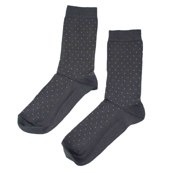 Women's 100% Bamboo Grey Pin Dot Socks - 3 pack