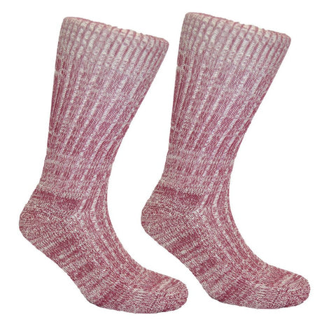 Women's Cushion Soled Sock Burgundy Red