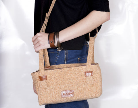 Cork wood bag