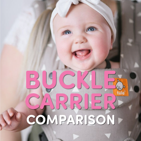 Check out our Buckled Baby Carrier comparison chart!