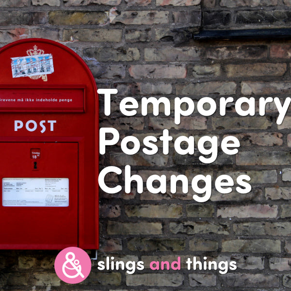 Temporary Postage Changes