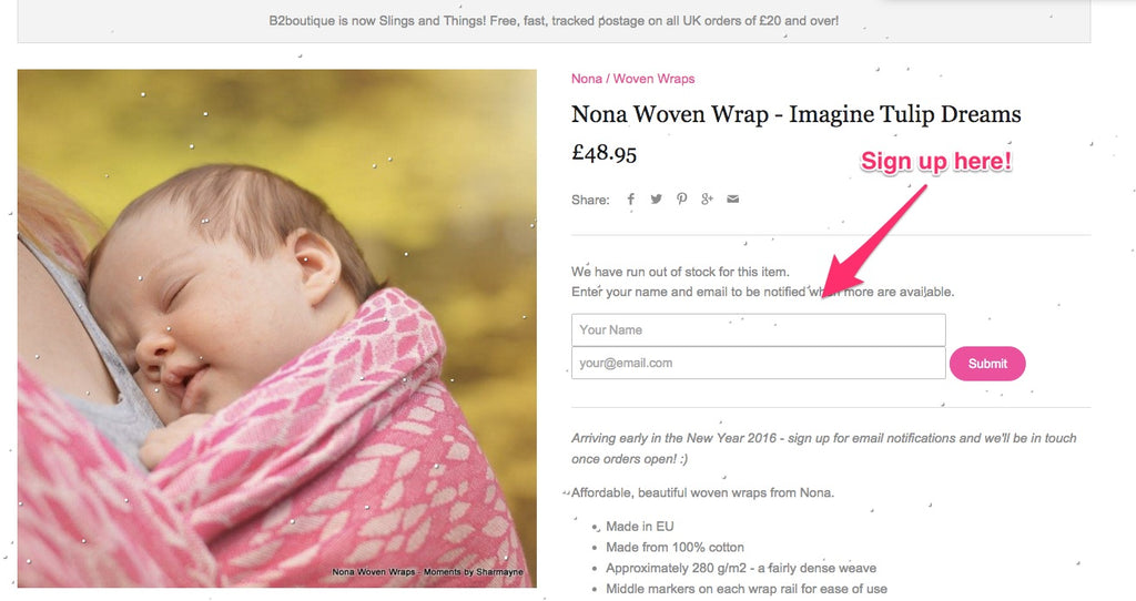 Nona Wrap Giveaway Competition Sign Up