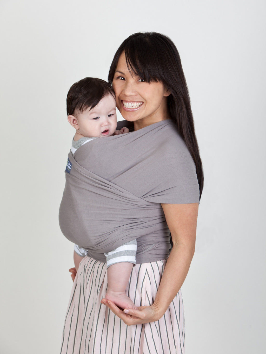 Boba Wrap - Bamboo Grey - Slings and Things