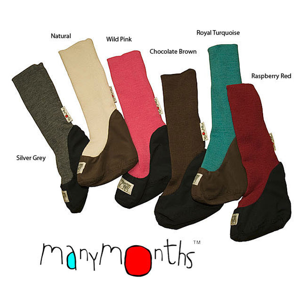 ManyMonths Merino Wool Long Rib Booties - Slings and Things  - 1