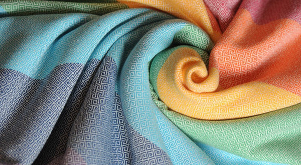 Girasol Light Rainbow Diamond Weave Ring Sling - Slings and Things