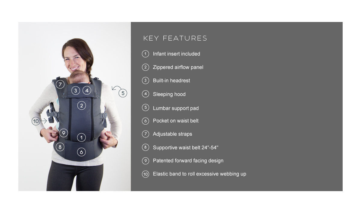 a4305334667 ... Beco 8 Cool Carrier - Dark Grey - Slings and Things