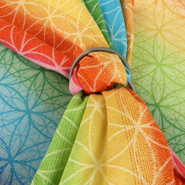 Didymos Flower of Life Rainbow Ring Sling *estimated arrival Thursday 29th Sep* - Slings and Things  - 1