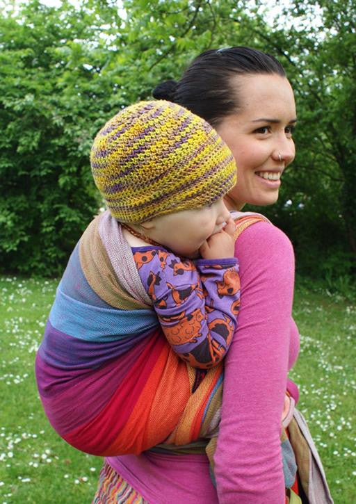 Girasol Wearababy Earthy Rainbow - Thick Weave Woven Wrap - Slings and Things