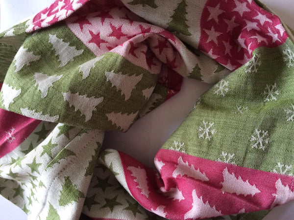 Adult Size Snood - Kokadi XMas Fabric - Slings and Things