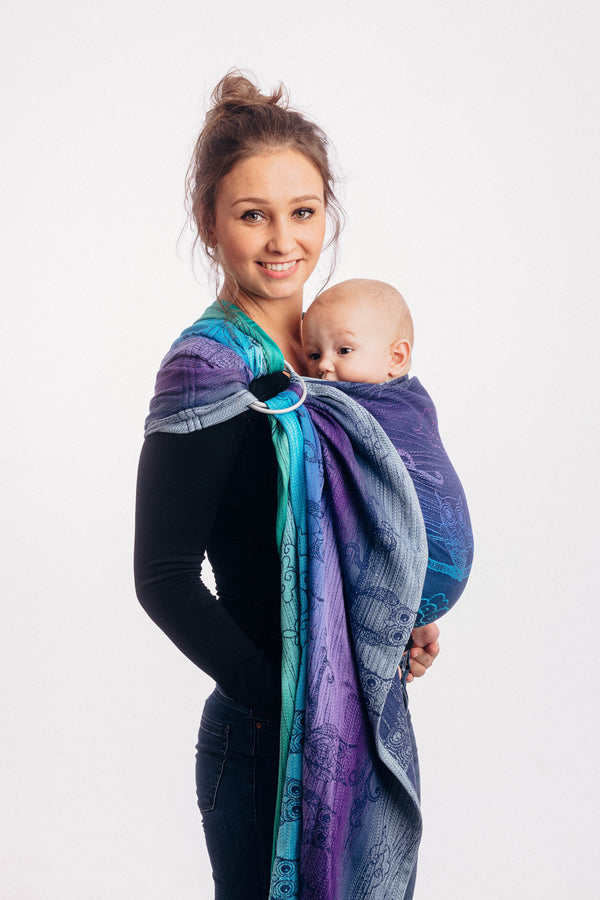Lenny Lamb Ring Sling - Bubo Owls Dusk - Slings and Things