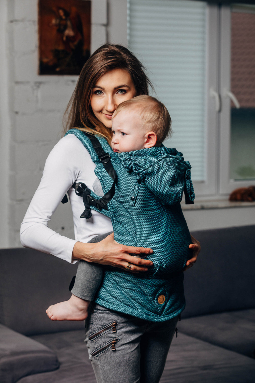 LennyGo Ergonomic Carrier - Basic Line Amazonite