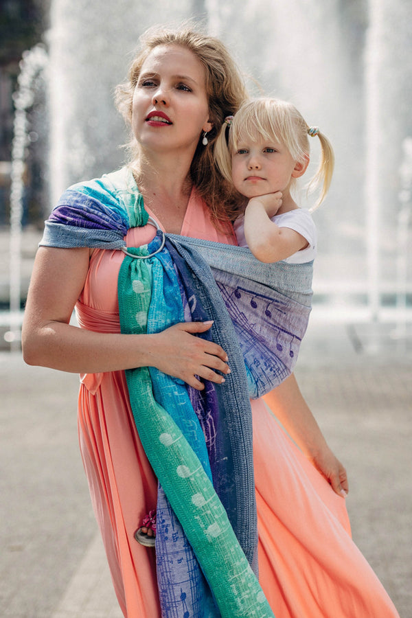 Lenny Lamb Ring Sling - Symphony Pure Joy - Slings and Things