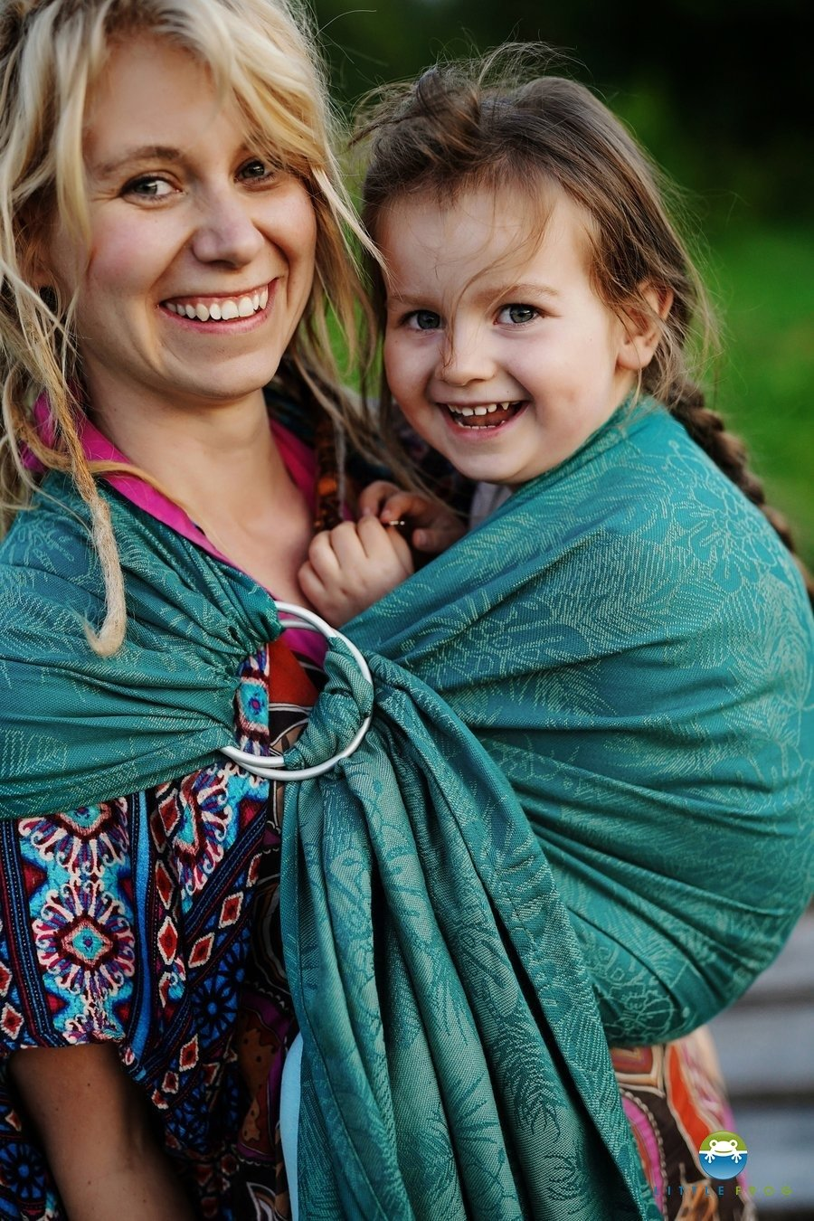 Little Frog Ring Sling - Green Samoa