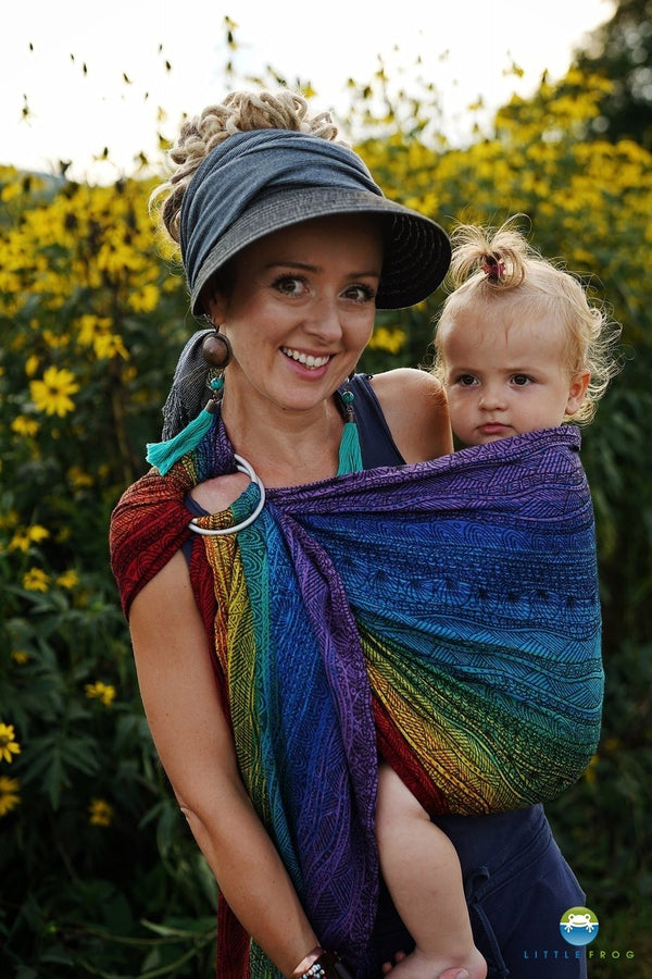 Little Frog Ring Sling - Rainbow Harmony