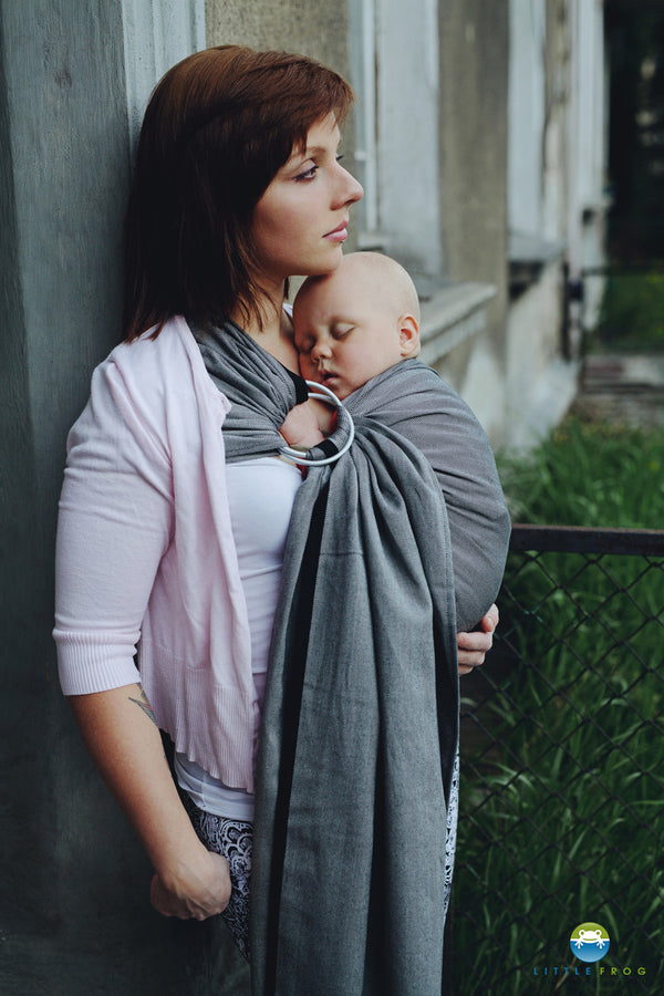 Little Frog Ring Sling - Graphite Herringbone - Slings and Things