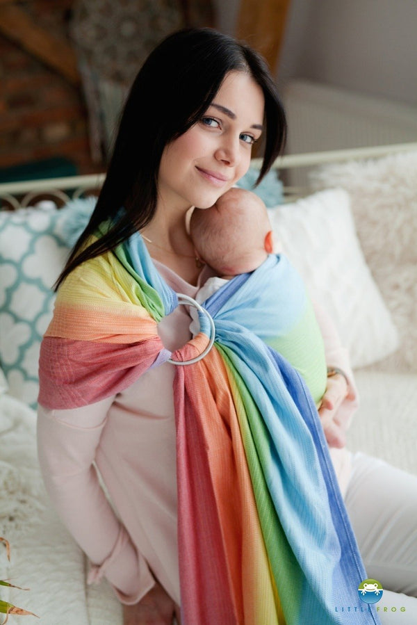 Little Frog Ring Sling - Rainbow Aura - Slings and Things