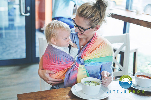 Little Frog Ring Sling - Sandy Ammolite - Slings and Things