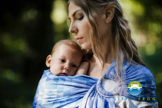 Little Frog Ring Sling - Blue Illusion *estimated despatch Monday 3rd Oct* - Slings and Things