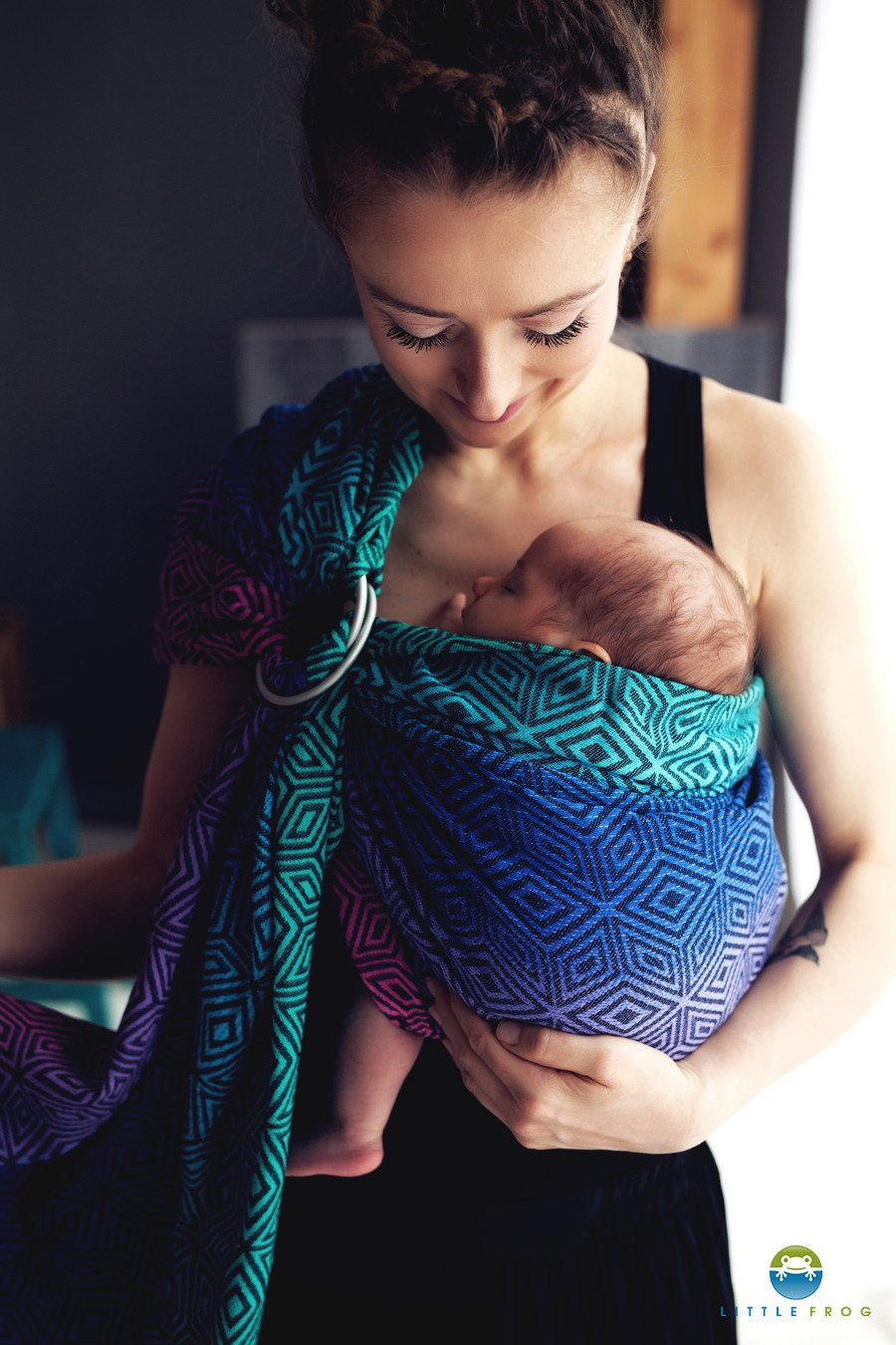 Little Frog Ring Sling - Dark Aurora Cube - Slings and Things