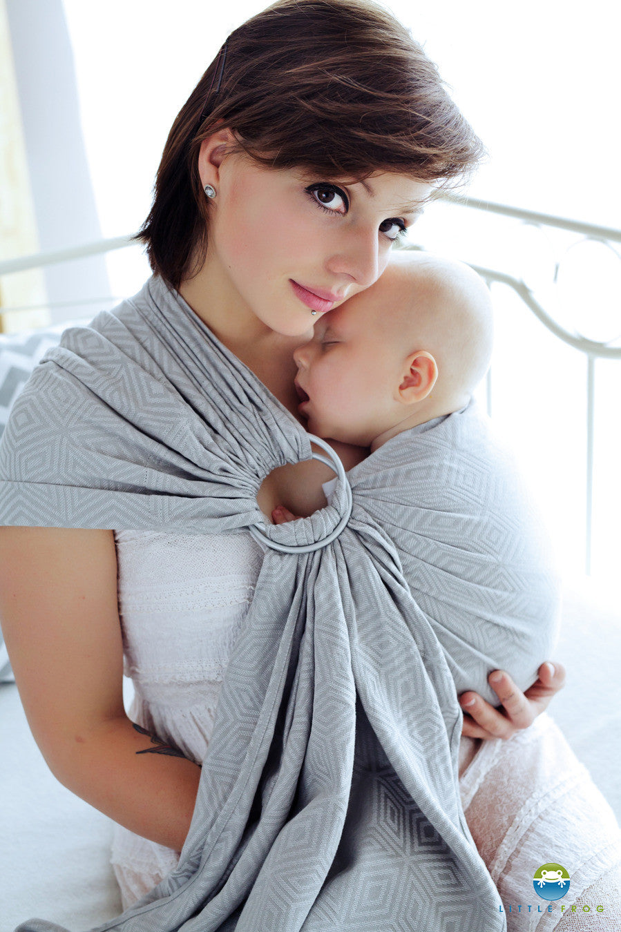 Little Frog Ring Sling - Grey Cube