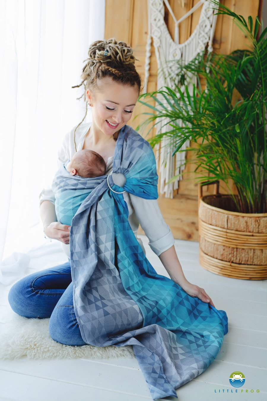 Little Frog Ring Sling - Navy Illusion - Slings and Things