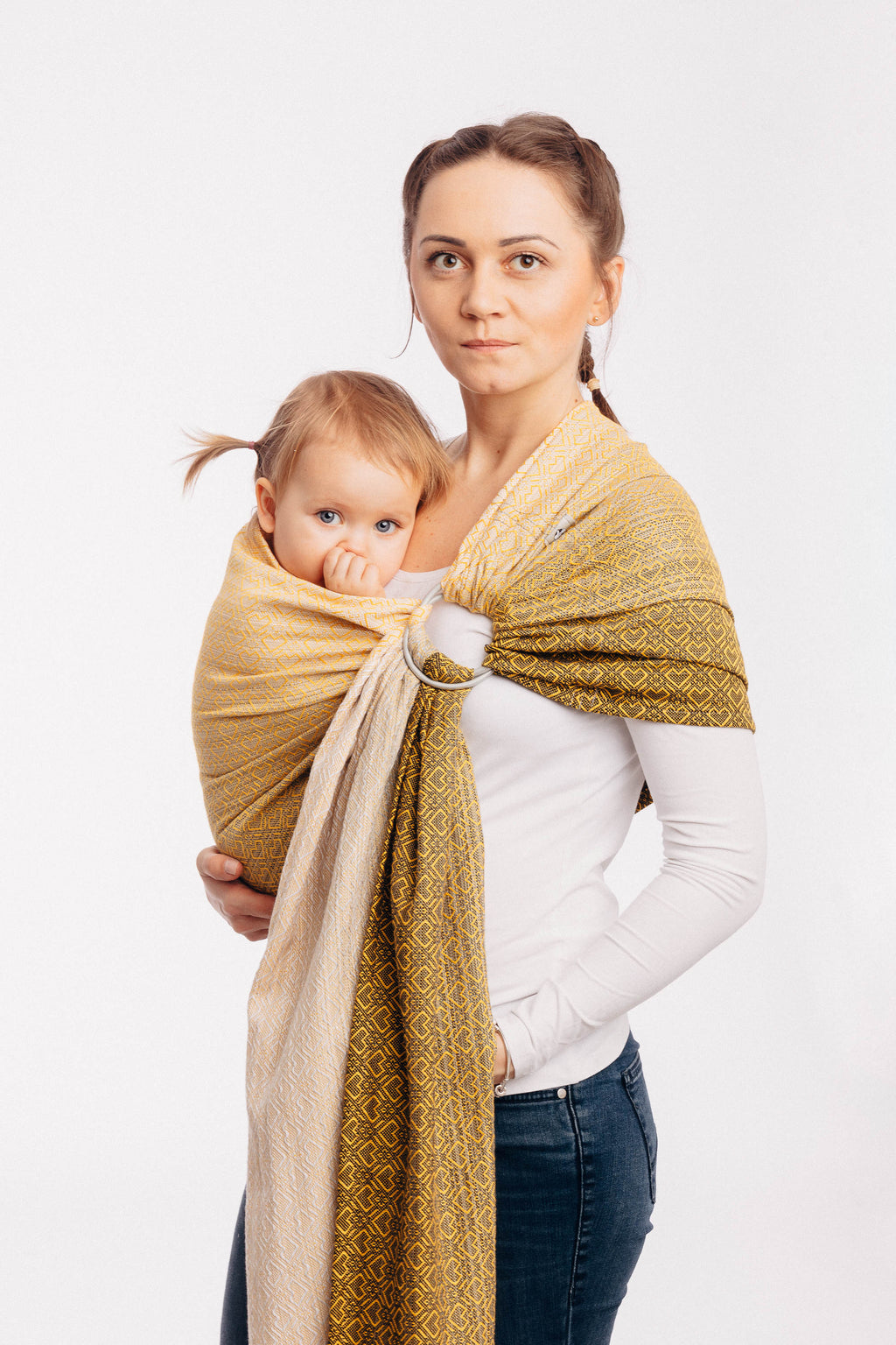 Lenny Lamb Ring Sling - Big Love Ombre Yellow - Slings and Things