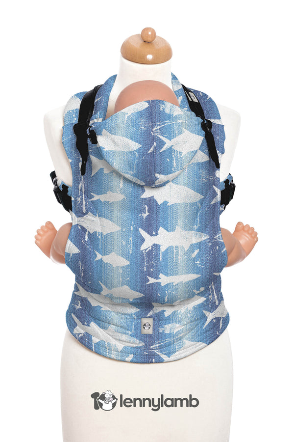 Lenny Lamb Ergonomic Carrier - Fish'ka Big Blue - Slings and Things