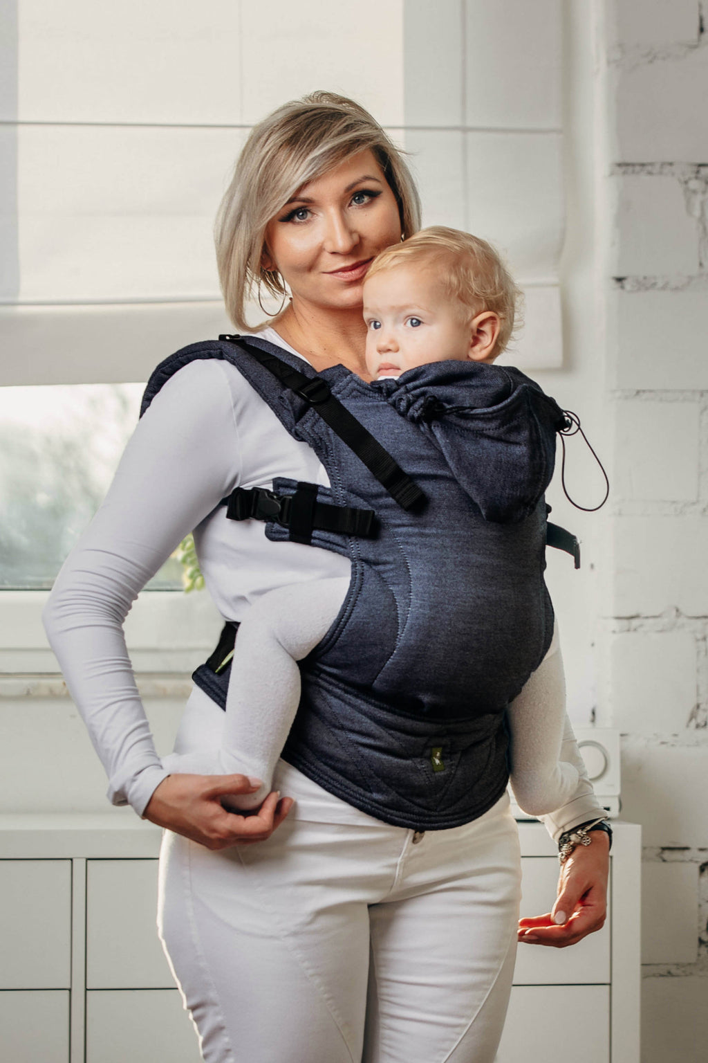 Lenny Lamb Ergonomic Carrier - Basic Line Jeans - Slings and Things