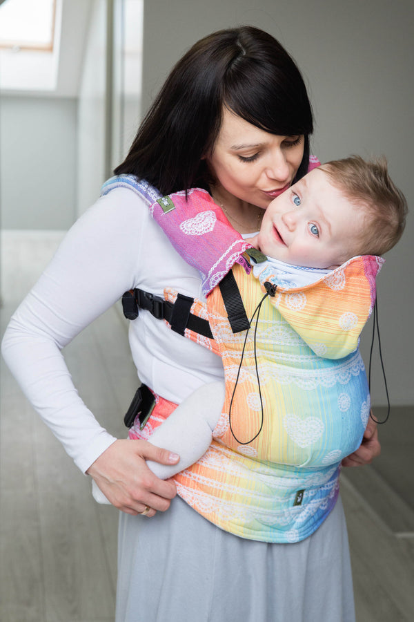 Lenny Lamb Ergonomic Carrier - Rainbow Lace - Slings and Things