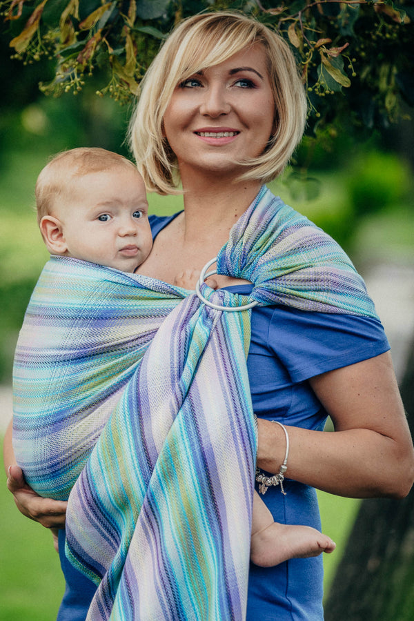 Lenny Lamb Ring Sling - Little Herringbone Petrea - Slings and Things