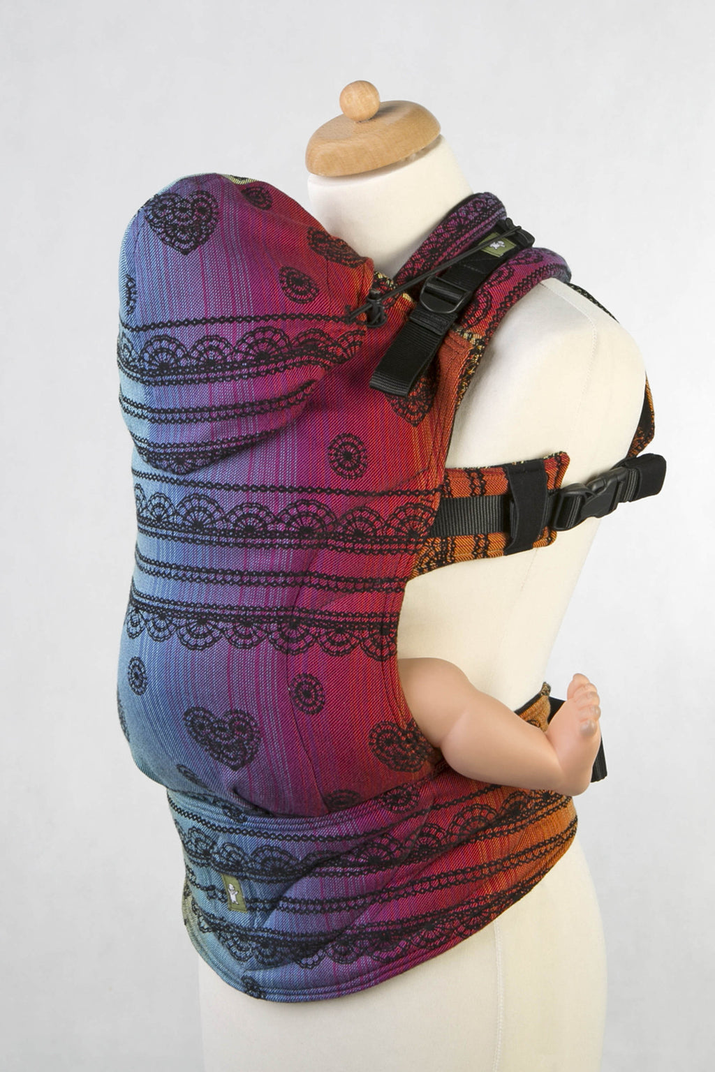 Lenny Lamb Ergonomic Carrier - Rainbow Lace Dark - Slings and Things