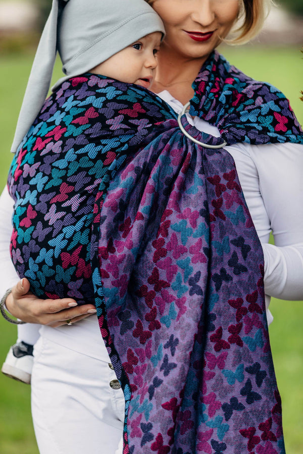 Lenny Lamb Ring Sling - Butterfly Wings at Night *missing packing*