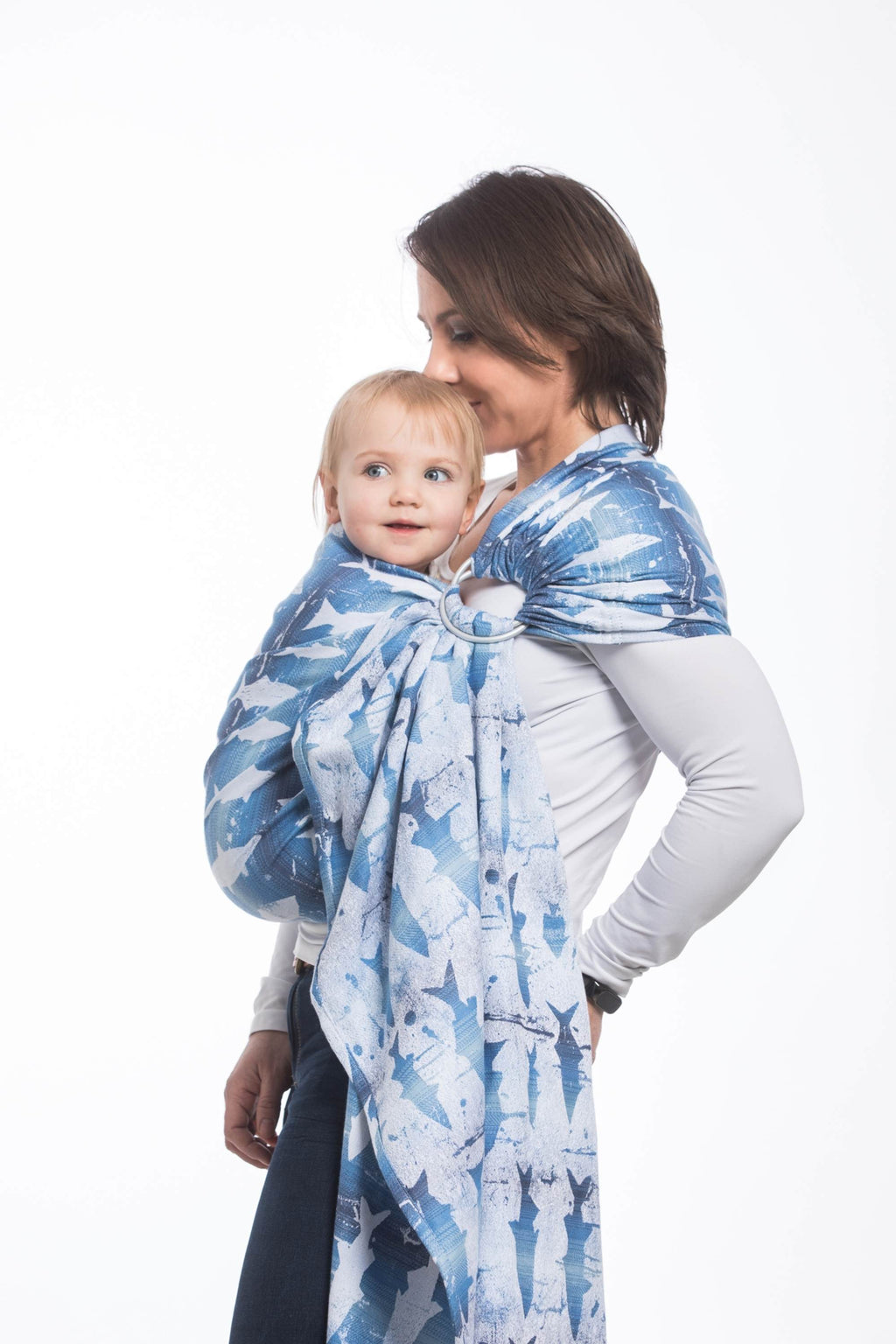 Lenny Lamb Ring Sling - Fish'ka Big Blue - Slings and Things