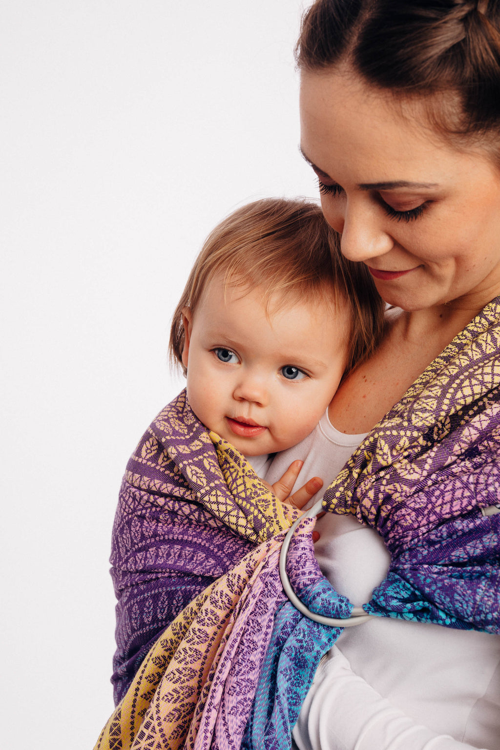 Lenny Lamb Ring Sling - Peacock's Tail Closer to The Sun - Slings and Things
