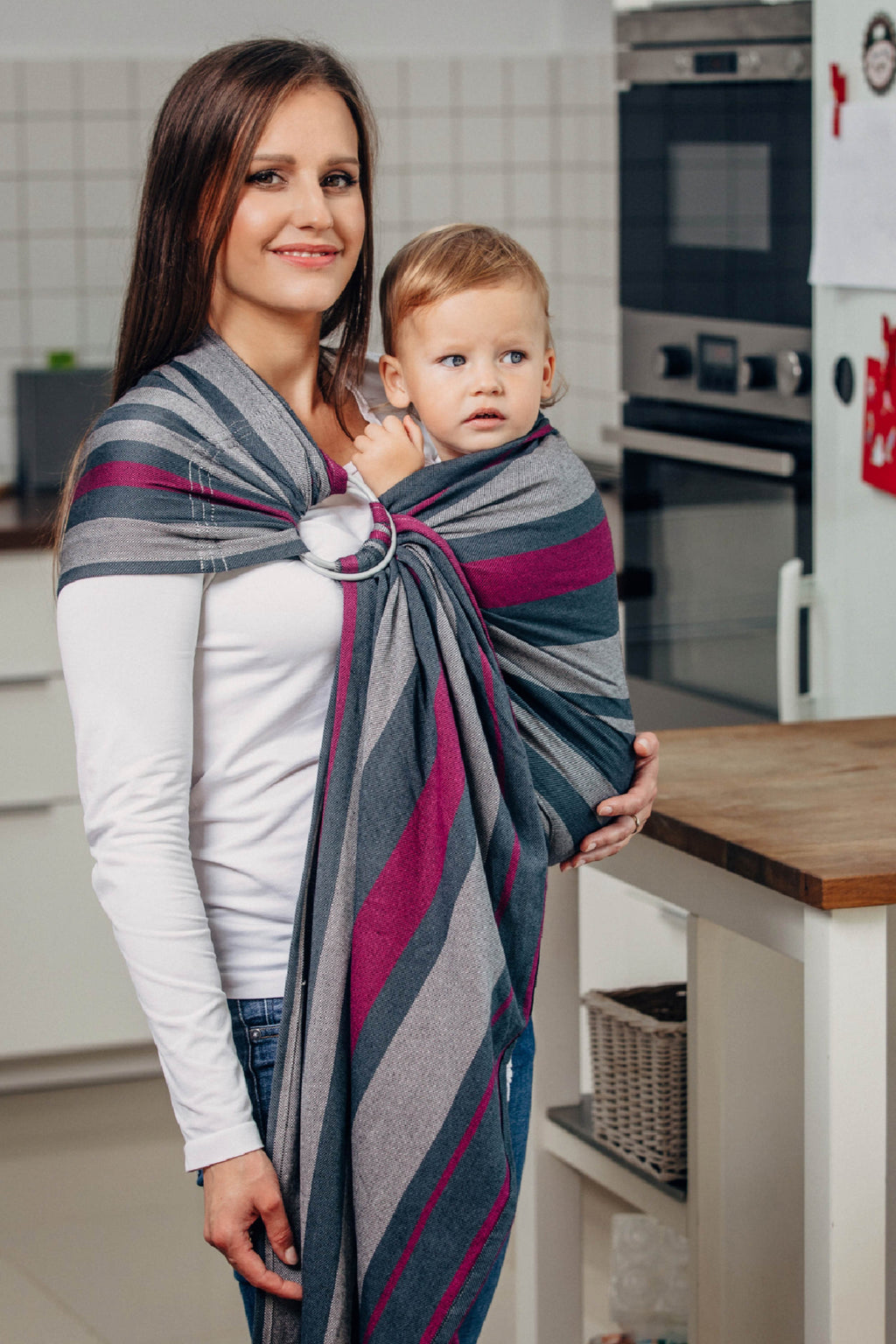 Lenny Lamb Ring Sling - Smoky Fuchsia - Slings and Things