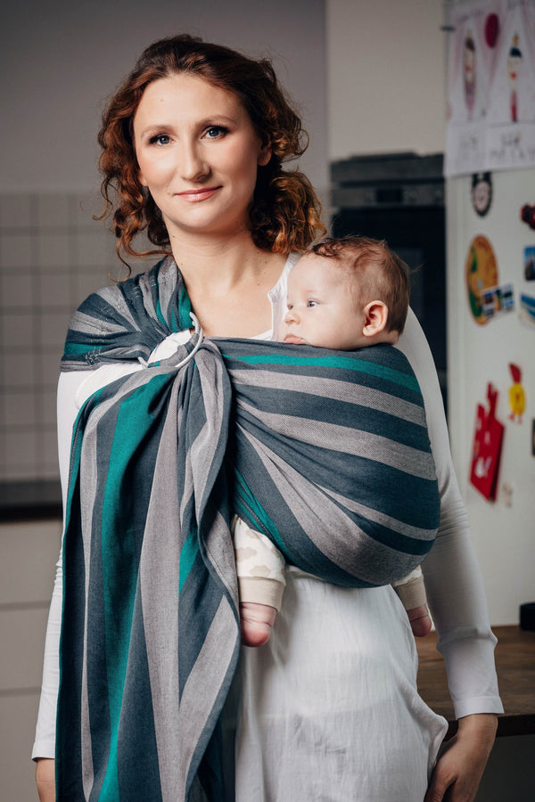 Lenny Lamb Ring Sling - Smoky Mint - Slings and Things