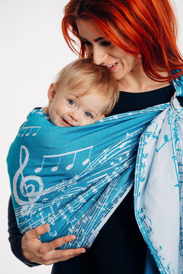 Lenny Lamb Ring Sling - Symphony Icy - Slings and Things